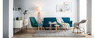 Set di 3 tavolini design laccati e legno naturale LARGO