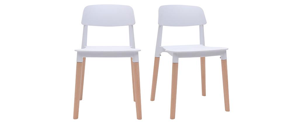 Set di sedie design scandinave bianche GILDA