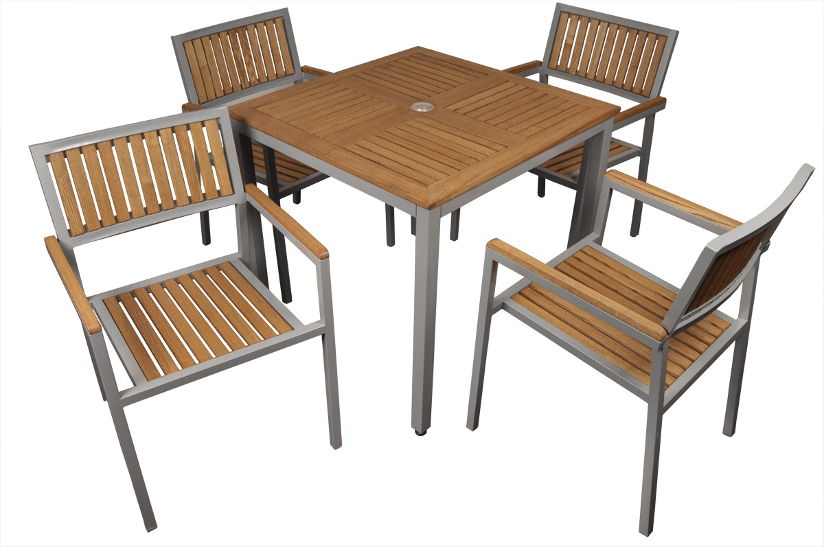 Set Tavolo E Sedie Da Giardino TINOS Miliboo #8E663D 1200 797 Set Tavolo E Sedie Da Giardino Obi