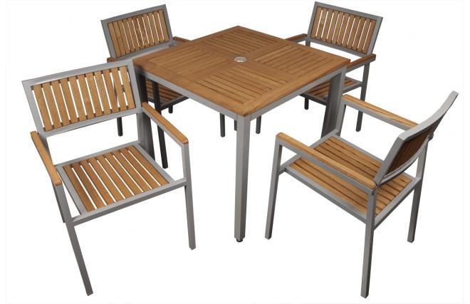Set tavolo e sedie da giardino tinos miliboo for Salotto da terrazzo