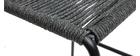 Sgabelli da bar da esterno in cordame grigio 72 cm (set di 2) YORGO