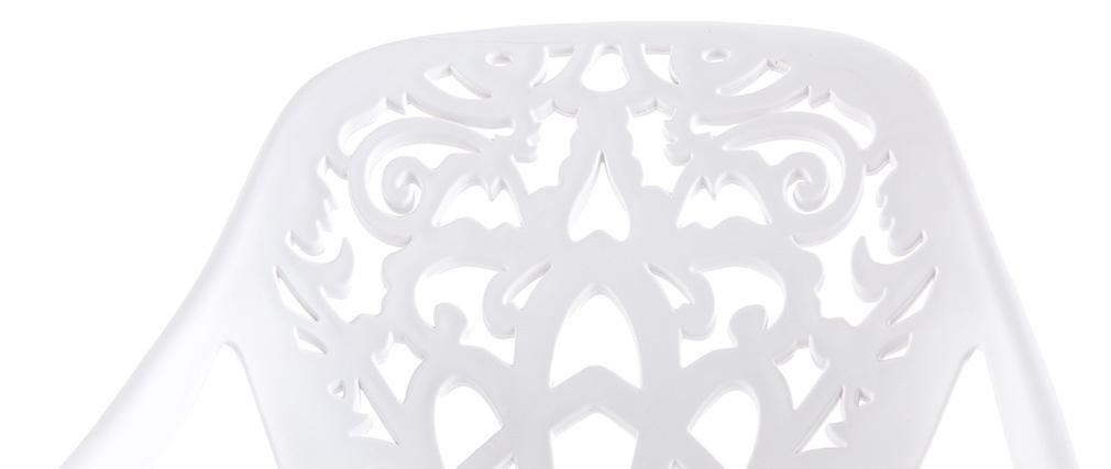 Sgabelli da bar design barocco bianco - gruppo di 2 BAROCCA