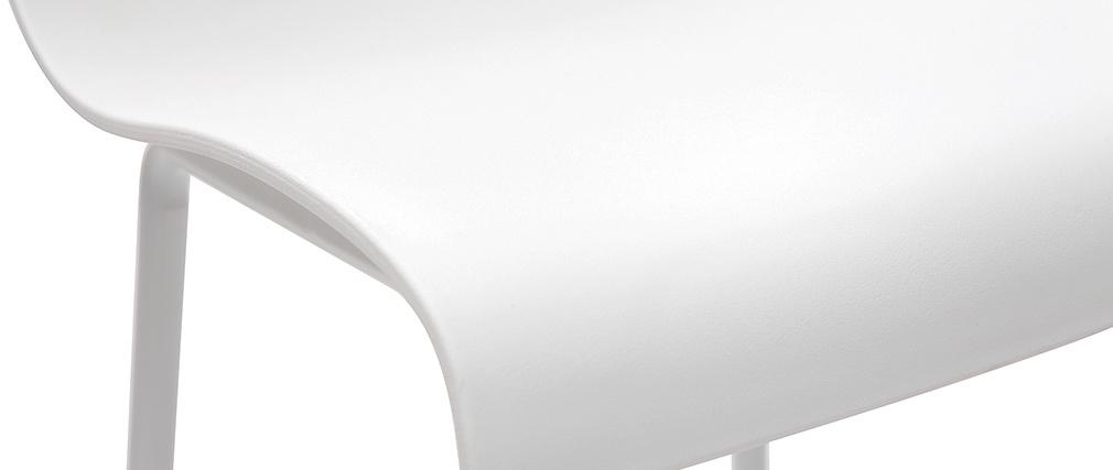 Sgabelli da bar design bianco 76 cm (lotto di 2) ONA