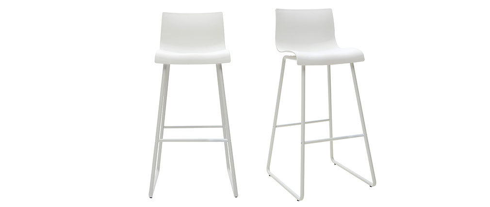 Sgabelli da bar design bianco 76 cm (set di 2) ONA
