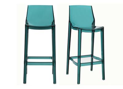 Sgabelli Bar Design.Sgabelli Da Bar Design Blu Trasparente Gruppo Di 2 Ylak