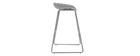 Sgabelli da bar design grigi con piedi in metallo (gruppo di 2) PEBBLE