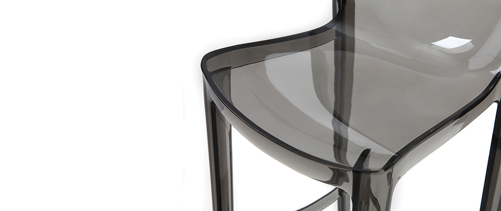 Sgabelli da bar design grigio fumé gruppo di 2 YLAK
