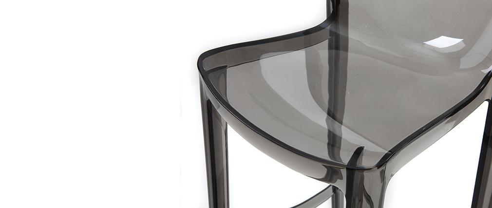 Sgabelli da bar design grigio fumé set di 2 YLAK