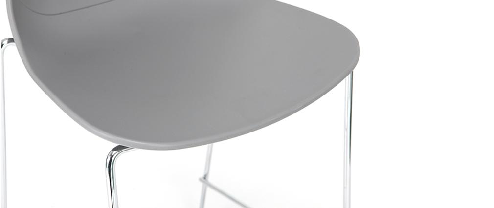 Sgabelli da bar design impilabili Grigio 76,5 cm lotto di 2 TROCADERO