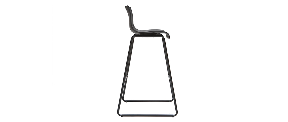 Sgabelli da bar design nero 76 cm (lotto di 2) ONA