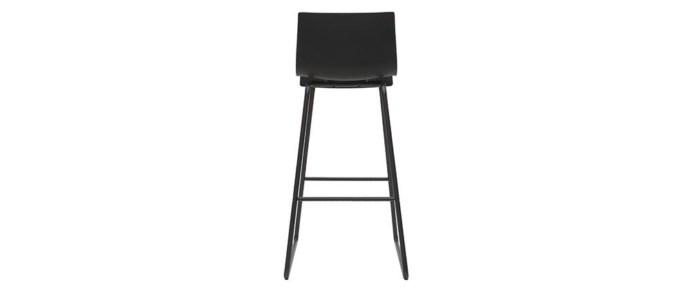 Sgabelli da bar design nero 76 cm (set di 2) ONA