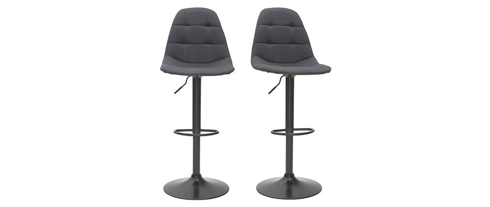 Sgabelli da bar design regolabili grigio scuro (set di 2) COX