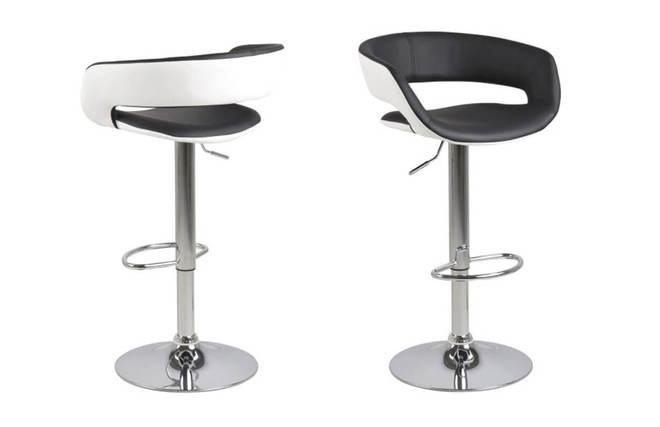 Sgabelli da bar design set di 2 nero e bianco eco pelle gravit v2