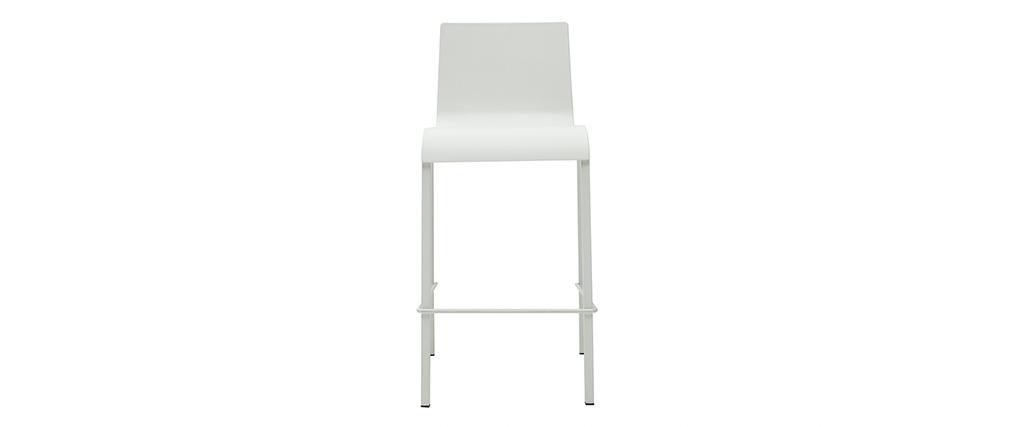 Sgabelli da bar di design impilabili bianchi H65 cm (set di 2) KUPA