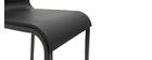 Sgabelli da bar di design impilabili neri H65 cm (set di 2) KUPA