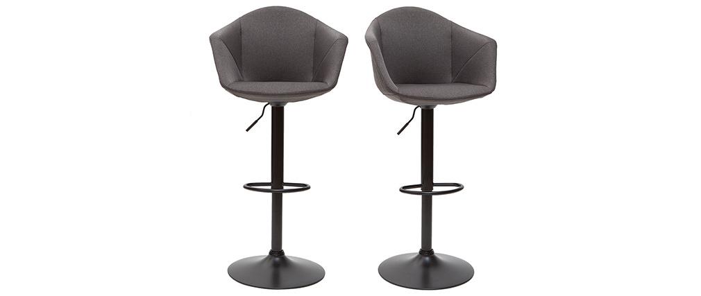 Sgabelli da bar di design regolabili grigio scuro (set di 2) TAYA
