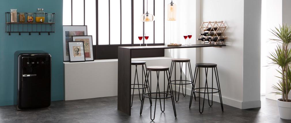 Sgabelli da bar in metallo Nero e in legno 75 cm lotto di 2 IGLA