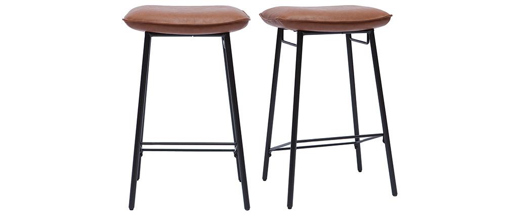 Sgabelli da bar industriali marrone (set di 2) DORY