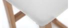 Sgabelli da bar legno chiaro e PU bianco gruppo di 2 OSAKA