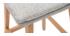 Sgabelli da bar legno e grigio perla 65cm gruppo di 2 JOAN