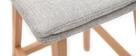 Sgabelli da bar legno e grigio perla 65cm set di 2 JOAN