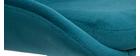 Sgabelli da bar regolabili in velluto blu petrolio HOLO (set di 2)