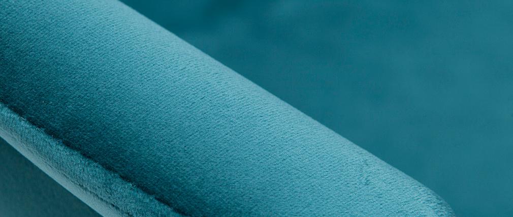 Sgabelli da bar regolabili in velluto blu petrolio TAYA (set di 2)