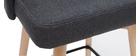 Sgabelli da bar scandinavi girevoli grigio scuro H 65 cm (set di 2) HASTA