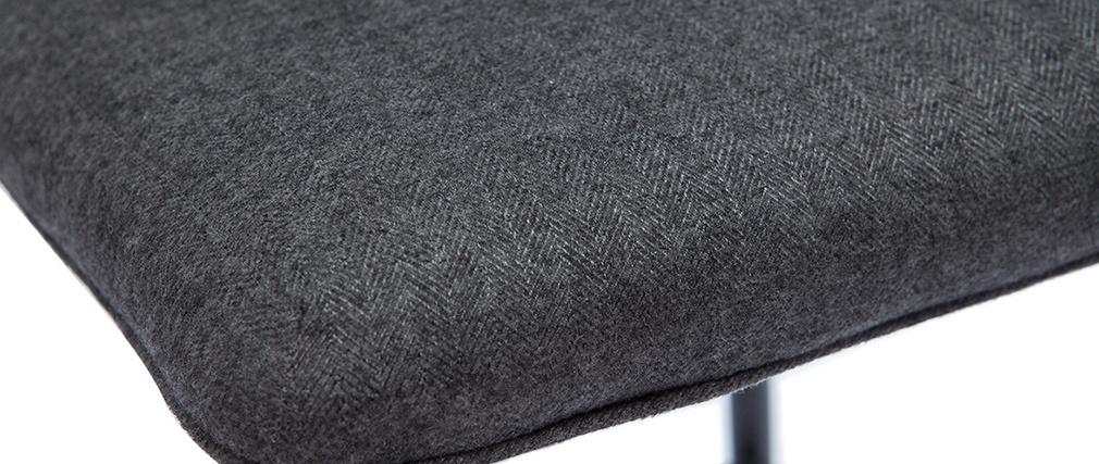 Sgabelli da bar vintage tessuto grigio scuro (set di 2) H62 FARELL
