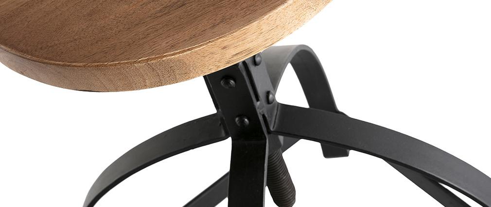 Sgabello complementare metallo e legno H 65 cm INDUSTRIA