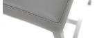 Sgabello da bar alluminio spazzolato PU grigio chiaro 66cm gruppo di 2 OLLY