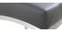 Sgabello da bar alluminio spazzolato PU grigio scuro 66cm gruppo di 2 OLLY