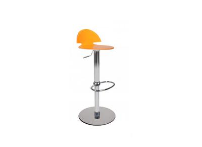 Sgabello da bar  bicolore arancione e bianco ORION