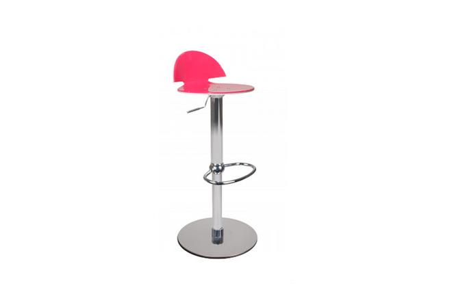 Sgabello da bar bicolore rosa e bianco orion miliboo