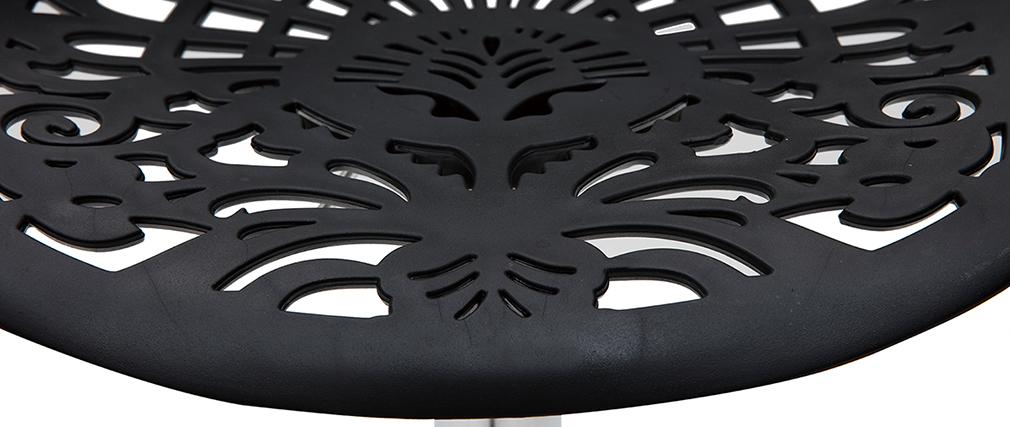 Sgabello da bar design barocco nero (set di 2) BAROCCA