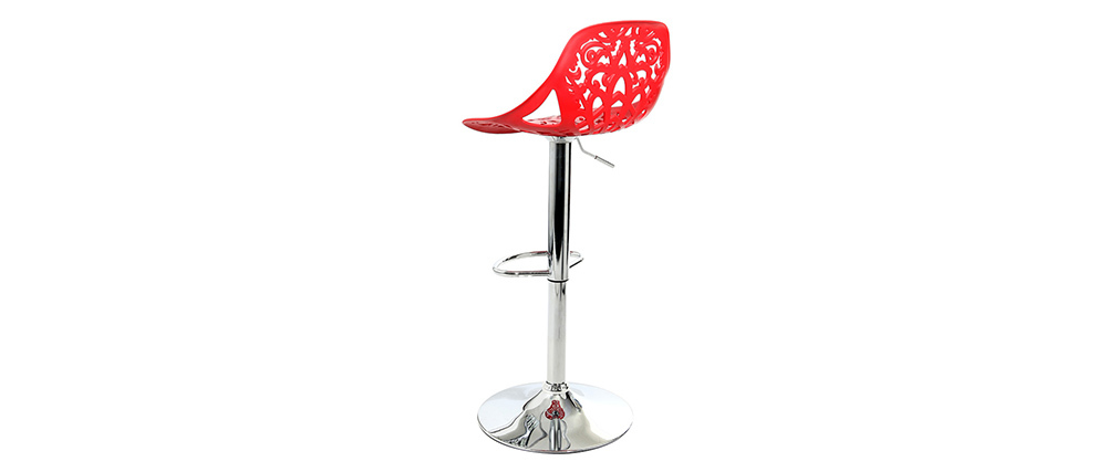 Sgabello da bar design barocco rosso BAROCCA