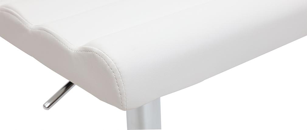 Sgabello da bar design bianco COLOMBUS