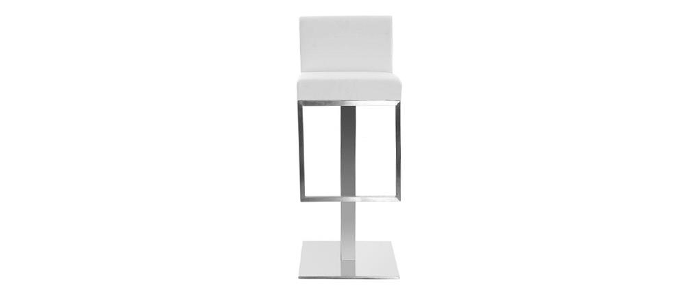 Sgabello da bar design bianco OMEGA