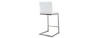 Sgabello da bar design contemporaneo - alluminio e PU bianco gruppo di 2 STELLAR