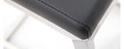Sgabello da bar design contemporaneo - alluminio e PU nero gruppo di 2 STELLAR