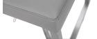 Sgabello da bar design contemporaneo - metallo e PU grigio - KYLE