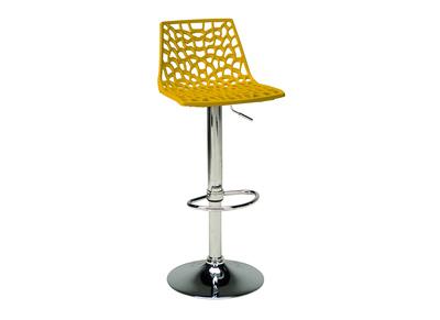 Sgabello da bar design giallo ATRAX