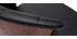 Sgabello da bar design girevole nero e legno scuro H65cm ALBIN