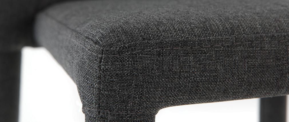 Sgabello da bar design grigio gruppo di 2 KARLA