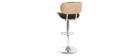 Sgabello da bar design in poliuretano Nero e legno chiaro MARTY