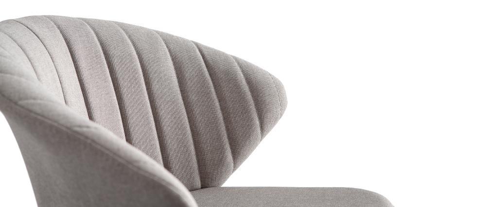 Sgabello da bar design in tessuto grigio 75 cm DALLY