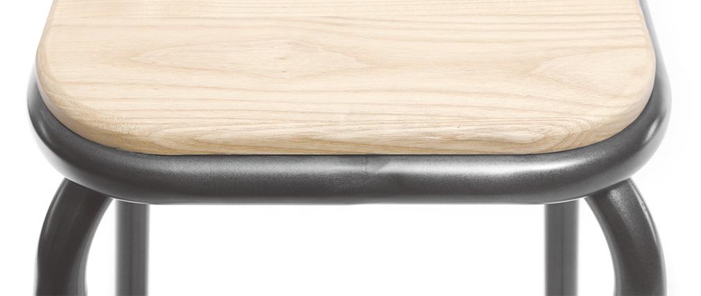 Sgabello da bar design inox gruppo di 2 H75cm MEMPHIS