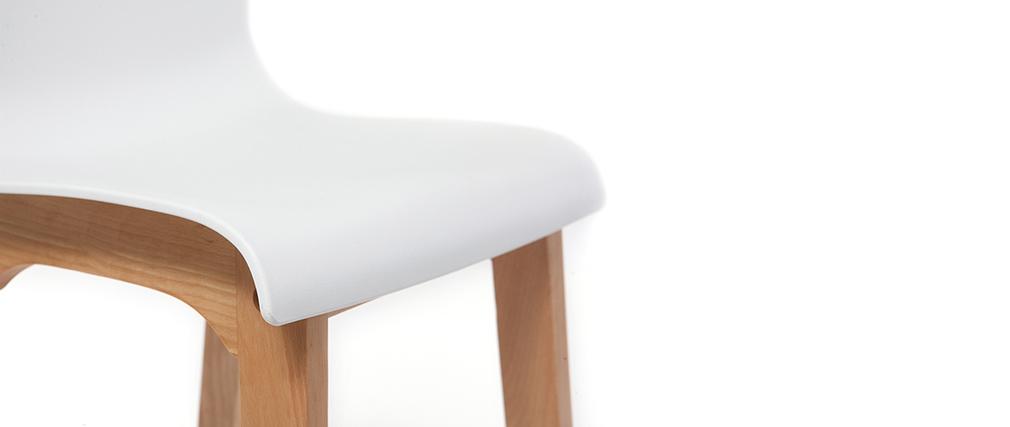Sgabello da bar design legno e bianco 75cm set di 2 NEW SURF
