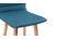 Sgabello da bar design legno e foglia di té 65cm gruppo di 2 EMMA