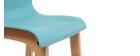 Sgabello da bar design legno e foglia di tè 65cm set di 2 NEW SURF